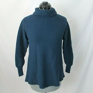 Soft Surroundings Sweater Teal Turtleneck Small
